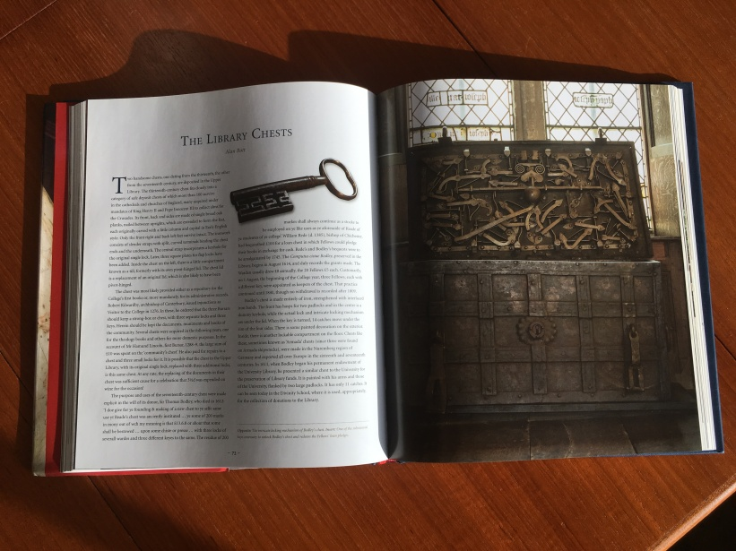 A spread from Treasures of Merton College